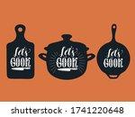 let's cook typography vector... | Shutterstock .eps vector #1741220648