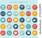 30 flat design icons   web ... | Shutterstock .eps vector #174122495