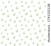 hand drawn cute tufts of green... | Shutterstock .eps vector #1741232138