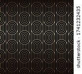 golden seamless pattern with... | Shutterstock .eps vector #1741232435
