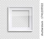 blank white picture frame with...   Shutterstock .eps vector #1741235522