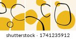 abstract yellow minimalist art... | Shutterstock .eps vector #1741235912