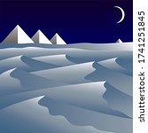desert night landscape with... | Shutterstock . vector #1741251845