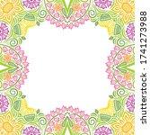decorative floral frame. vector ... | Shutterstock .eps vector #1741273988