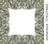 decorative floral frame. vector ... | Shutterstock .eps vector #1741274642