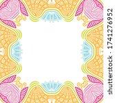 decorative floral frame. vector ... | Shutterstock .eps vector #1741276952