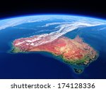 australia seen from space  ... | Shutterstock . vector #174128336