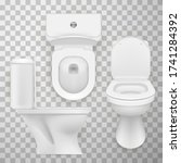 flush toilet bowl  wc pan ...   Shutterstock .eps vector #1741284392