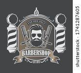 barber shop poster  banner... | Shutterstock .eps vector #1741287605