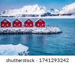 Traditional Red Wooden Houses...