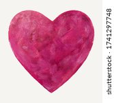 Vector Purple Heart. Painting...