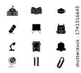 education set icon glyph style...