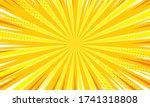 comic yellow sunbeam background.... | Shutterstock .eps vector #1741318808