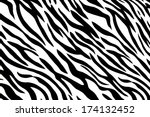 background of seemless zebra... | Shutterstock . vector #174132452