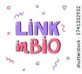 Link In Bio. Hipster Vector...