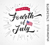 fourth of july usa vintage... | Shutterstock .eps vector #1741343978