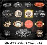 vector set of calligraphic... | Shutterstock .eps vector #174134762