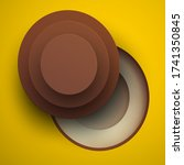 cartoon coconut in modern... | Shutterstock .eps vector #1741350845
