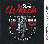 bikers club vintage logotype...   Shutterstock .eps vector #1741351898