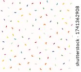 sparse confetti dotty paper...   Shutterstock .eps vector #1741362908