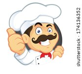 chef giving thumbs up | Shutterstock .eps vector #174136352