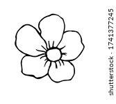 flower hand drawn illustration  ... | Shutterstock .eps vector #1741377245