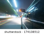 car on the road with motion... | Shutterstock . vector #174138512