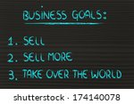 funny steps for business... | Shutterstock . vector #174140078