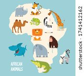 Vector Map Of Africa With...