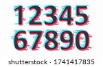a set of colored numbers from...
