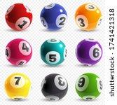 lottery balls. lotto game balls ... | Shutterstock .eps vector #1741421318