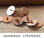 Office Buttons Rusty Pile On A...