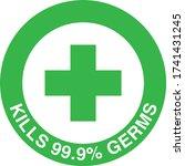 round green antibacterial... | Shutterstock .eps vector #1741431245