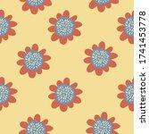 Groovy Flower Pattern. Seamless ...