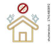 clean house. prohibited virus.... | Shutterstock .eps vector #1741480892