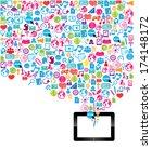 template design digital tablet... | Shutterstock .eps vector #174148172