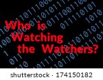 text about being watched on... | Shutterstock . vector #174150182