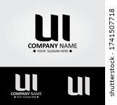 initial letter ui logo design