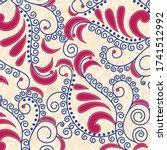 vector design of floral... | Shutterstock .eps vector #1741512992