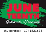 juneteenth freedom day. african ... | Shutterstock .eps vector #1741521635