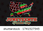 juneteenth freedom day. african ... | Shutterstock .eps vector #1741527545