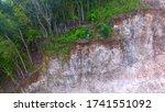 A Layer Of Limestone Beneath A...