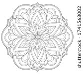 adult coloring book page a zen...   Shutterstock .eps vector #1741563002