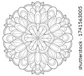 adult coloring book page a zen...   Shutterstock .eps vector #1741563005