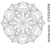 adult coloring book page a zen...   Shutterstock .eps vector #1741563008