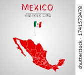 detailed map of mexico with...   Shutterstock .eps vector #1741573478