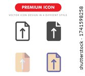 upload icon pack isolated on...
