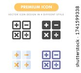 calculator icon pack isolated...