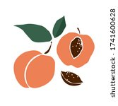 Decorative Peach With Leaves ...