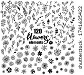 big vector set of doodle... | Shutterstock .eps vector #1741635422